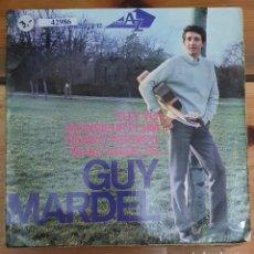 Discos de vinilo: 42986 - GUY MARDEL - 4 SINGLES - HISPAVOX - AÑO 1966. Lote 222096206