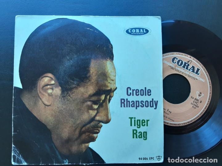 EP DUKE ELLINGTON, CREOLE RHAPSODY, TIGER RAG (Música - Discos de Vinilo - EPs - Jazz, Jazz-Rock, Blues y R&B)