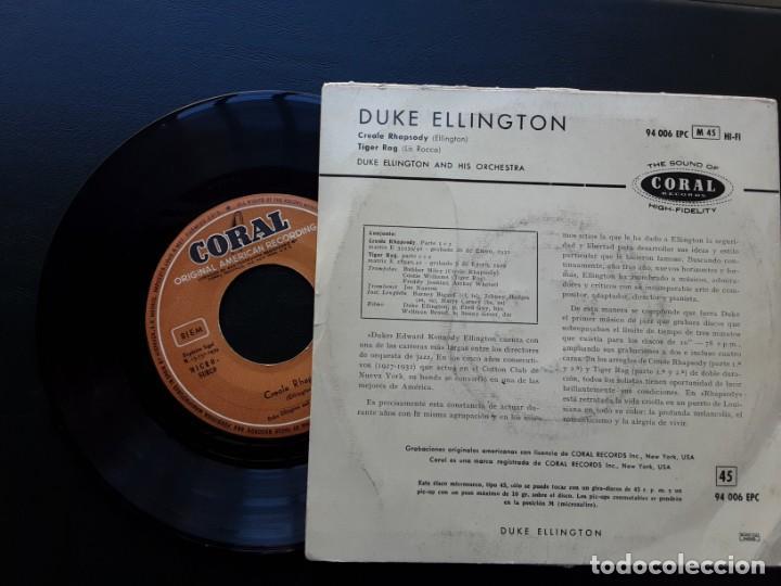 Discos de vinilo: EP DUKE ELLINGTON, CREOLE RHAPSODY, TIGER RAG - Foto 2 - 222109278