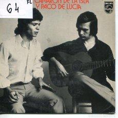 Discos de vinilo: CAMARON DE LA ISLA CON PACO DE LUCIA / LAS CAMPANAS TAMBIEN LLORAN / CANASTERA + 2 (EP 1972). Lote 222110045