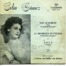 Discos de vinilo: CELIA GAMEZ / LA HECHIZERA EN PALACIO / YOLA + 2 (EP 1960). Lote 222110616