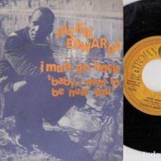 Discos de vinilo: JACKIE EDWARDS - I MUST GO BACK - SINGLE DE VINILO EDICION ESPAÑOLA - TROJAN REGGAE. Lote 222114311