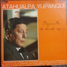 Discos de vinilo: ATAHUALPA YUPANQUI. LP. SELLO RCA VÍCTOR. EDITADO EN ESPAÑA. AÑO 1969. Lote 222121826