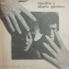 Discos de vinilo: CLAUDIA Y ALBERTO GAMBINO. LP PROMO.PORTADA DOBLE. SELLO EXPLOSIÓN. EDITADO EN ESPAÑA. AÑO 1974. Lote 222122333