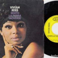 Disques de vinyle: VIVIAN REED - I FEEL THE EARTH MOVE - SINGLE DE VINILO EDICION ESPAÑOLA - SOUL. Lote 222124880