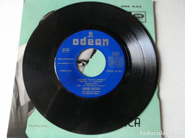 Discos de vinilo: LUCHO GATICA / YO VENDO UNOS OJOS NEGROS / A UNOS OJOS / LOS EJES DE MI CARRETA / AMEMONOS (EP 59) - Foto 3 - 222132006