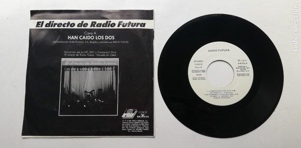 """1020- RADIO FUTURA HAN CAIDO LOS DOS - VIN 7"""" POR G DIS G PROMO (Música - Discos - Singles Vinilo - Otros estilos)"""