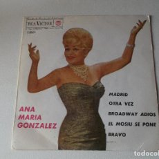 Discos de vinilo: ANA MARIA GONZALEZ&CHUCHO FERRER MADRID/OTRA VEZ/BROADWAY ADIOS +1 EP 1963 RCA SPAIN ESPAÑA. Lote 222133057