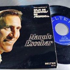 Discos de vinilo: MANOLO ESCOBAR-EP MI CARRO +3-EDIC.ESPECIAL CAJA DE AHORROS DE SABADELL. Lote 222133860