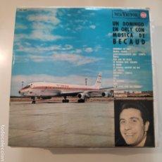 Discos de vinilo: NT UN DOMINGO EN ORLY CON MUSICA DE BECAUD 1964 LP SPAIN VINILO. Lote 222139517