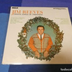 Discos de vinilo: LOTT87 LP UK COUNTRY 1965 BUEN ESTADO JIM REEVES 12 SONGS OF CHRISTMAS. Lote 222139588