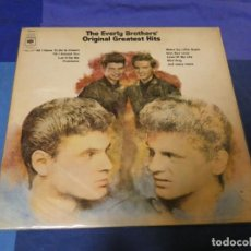 Discos de vinilo: LOTT87 DOBLE LP UK 1970 MUY BUEN ESTADO Y LABEL CBS ANTIGUO EVERLY BROTHERS ORIGINAL HITS. Lote 222140278