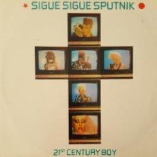 Discos de vinilo: SIGUE SIGUE SPUTNIK - 21ST CENTURY BOY MAXI SINGLE 1986. Lote 222145111