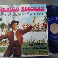 Discos de vinilo: MANOLO ESCOBAR-SINGLE MI CORTIJO-NUEVO. Lote 222145486