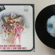 "Discos de vinilo: 1020- THE TEMPTATIONS PAPA WAS A ROLLING STONE - VIN 7"" POR G+ DIS VG+. Lote 222147235"
