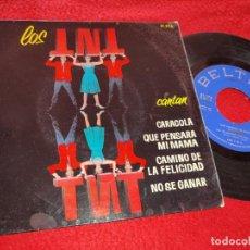 Discos de vinilo: LOS TNT T.N.T. CARACOLA/QUE PENSARA MI MAMA/CAMINO DE LA FELICIDAD/NO SE GANAR EP 1964 EUROVISION. Lote 222148680