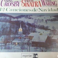 Discos de vinilo: FRANK SINATRA BING CROSBY 12 CANCIONES DE NAVIDAD CHRISTMAS. Lote 222150477