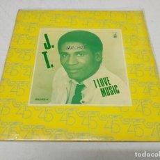 Discos de vinilo: J. T.* – I LOVE MUSIC---MAXI EDICION ESPAÑOLA 1983--DISCO. Lote 222159332