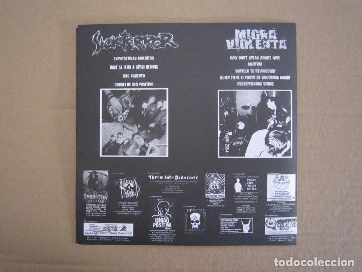 Discos de vinilo: EP - SPLIT - GRIND CORE / HARD CORE - SICKTERROR Y MIGRA VIOLENTA - 2004 - Foto 2 - 222159338