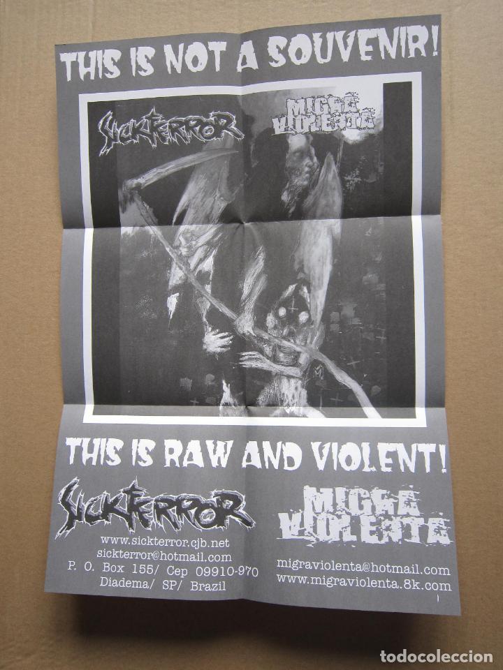 Discos de vinilo: EP - SPLIT - GRIND CORE / HARD CORE - SICKTERROR Y MIGRA VIOLENTA - 2004 - Foto 4 - 222159338