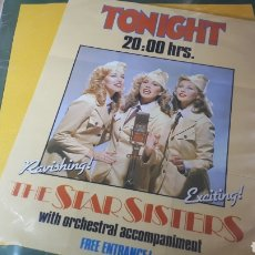 Discos de vinilo: THE STAR SISTERS TONIGHT 20;00 HRS.. Lote 222164657
