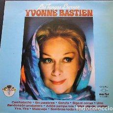 Discos de vinilo: YVONNE BASTIEN - LOS TANGOS ETERNOS. Lote 222167131