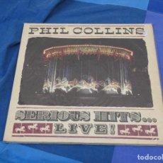 Discos de vinilo: EXPRO DOBLE LP ESPAÑA 90 PHIL COLLINS SERIOUS HITS LIVE ESTADO MAS QUE CORRECTO. Lote 222173426