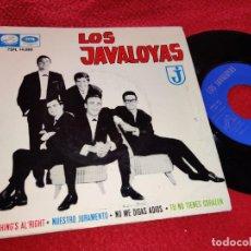 Discos de vinilo: LOS JAVALOYAS EVERYTHING'S AL'RIGHT/NUESTRO JURAMENTO/NO ME DIGAS ADIOS +1 EP 1964 LA VOZ DE SU AMO. Lote 222176706