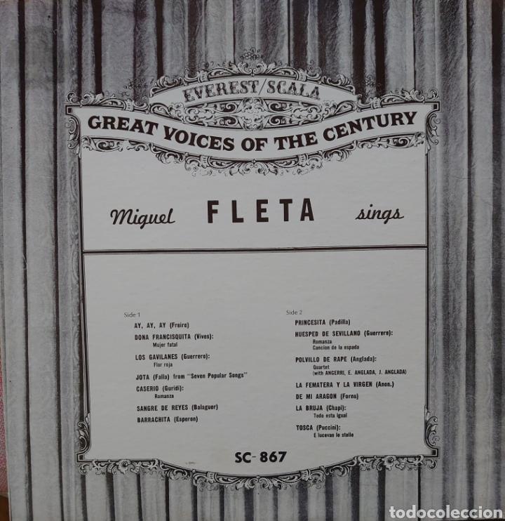 MIGUEL FLETA LP SELLO EVEREST EDITADO EN USA... (Música - Discos - LP Vinilo - Clásica, Ópera, Zarzuela y Marchas)