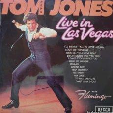 Discos de vinilo: TOM JONES EN LAS VEGAS LP SELLO DECCA EDITADO EN INGLATERRA.... Lote 222178316