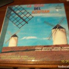 Discos de vinilo: LA ROSA DEL AZAFRAN- CORO CANTORES DE MADRID. Lote 222178423