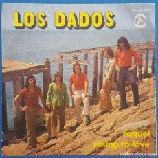 Discos de vinilo: SINGLE / LOS DADOS / RAQUEL - YOUNG TO LOVE / NEW PROMOTION BN-45-465 / 1975. Lote 222180202