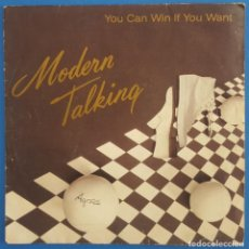 Discos de vinilo: SINGLE / MODERN TALKING / YOU CAN WIN IF YOU WANT - ONE IN A MILLION / ARIOLA A-107 280 / 1985. Lote 222183282
