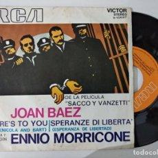 Discos de vinilo: JOAN BAEZ - HERE'S TO YOU (SG) 1971. Lote 222184040