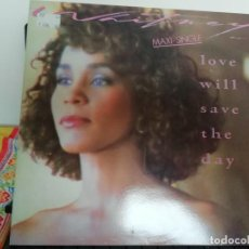 Discos de vinil: RAR MAXI 12. WHITNEY HOUSTON. LOVE WILL SAVE THE DAY. 2 TRACKS. MADE IN SPAIN. Lote 222191896