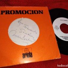 Discos de vinilo: JUAN GABRIEL CON TU AMOR/HE VENIDO A PEDIRTE PERDON 7'' 1981 PROMO! ESPAÑA FIRMADO JUAN GABRIEL. Lote 222192972