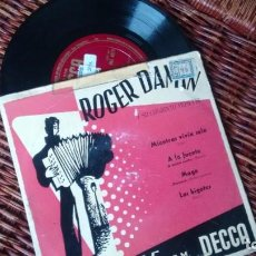 Discos de vinilo: E P (VINILO) DE ROGER DAMIN Y SU CONJUNTO MUSETTE ( PIZARRA). Lote 222193925