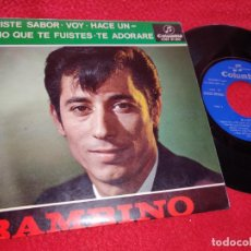 Discos de vinilo: BAMBINO TRISTE SABOR/VOY/HACE UN AÑO QUE TE FUISTES/TE ADORARE EP 1965 COLUMBIA RUMBA. Lote 222194201