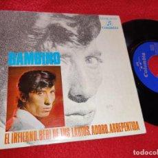 Discos de vinilo: BAMBINO EL INFIERNO / BEBI DE TUS LABIOS / ADORO / ARREPENTIDA 7'' EP 1968 COLUMBIA RUMBA. Lote 222194331