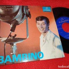 Discos de vinilo: BAMBINO CUANDO SUENAN LOS CLARINES/SURGIRAS/+2 7'' EP 1965 COLUMBIA SANTIESTEBAN RUMBA. Lote 222194420