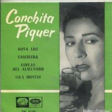 Discos de vinilo: CONCHITA PIQUER / DOÑA LUZ / CARCELERA + 2 (EP 1961) DIFERENTE EDICION. Lote 296582948