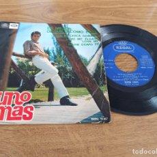 Discos de vinilo: BRUNO LOMAS / ES MEJOR DEJARLO CÓMO ESTÁ / ERES MI CHICA SOÑADA / LOVE ME PLEASE LOVE ME /. Lote 222202280