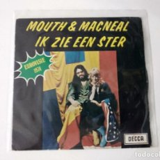 Discos de vinilo: MOUTH & MACNEAL – IK ZIE EEN STER - I SEE A STAR EUROVISION 1974. Lote 222203456