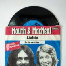 Discos de vinilo: MOUTH & MACNEAL – IK ZIE EEN STER 1974 EUROVISION. Lote 222211443