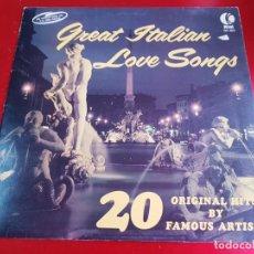 Discos de vinilo: LP-VINILO-GREAT ITALIAN LOVE SONGS-K.TEL-20 ORIGINAL HITS-ENGLAND-BUEN ESTADO. Lote 42272836