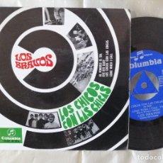 Discos de vinilo: LOS BRAVOS EP LOS CHICOS CON LAS CHICAS COMO NUEVO CON TRICENTRE VER FOTOS.. Lote 222221911