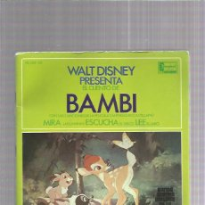 Discos de vinilo: DISNEY PRESENTA EL CUENTO DE BAMBI. Lote 222223100