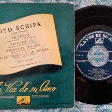 Discos de vinilo: SINGLE TITO SCHIPA ORQUESTA - ¡ÚNICO ENVÍO A FINAL DE MES!. Lote 222224002