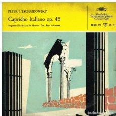 Discos de vinilo: TSCHAIKOWSKY - CAPRICHO ITALIANO, OP 45 - ORQUESTA FILARMONICA DE MUNICH - EP 1958. Lote 222225162