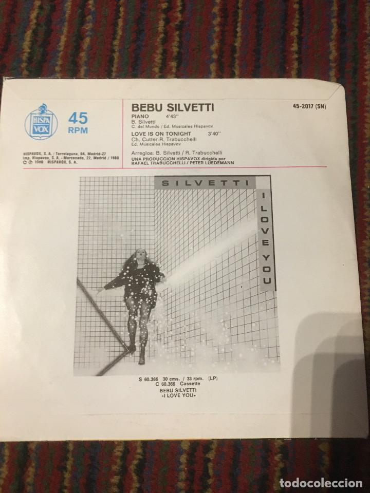 Discos de vinilo: Bebu Silvetti - Piano SINGLE - Foto 2 - 222225485